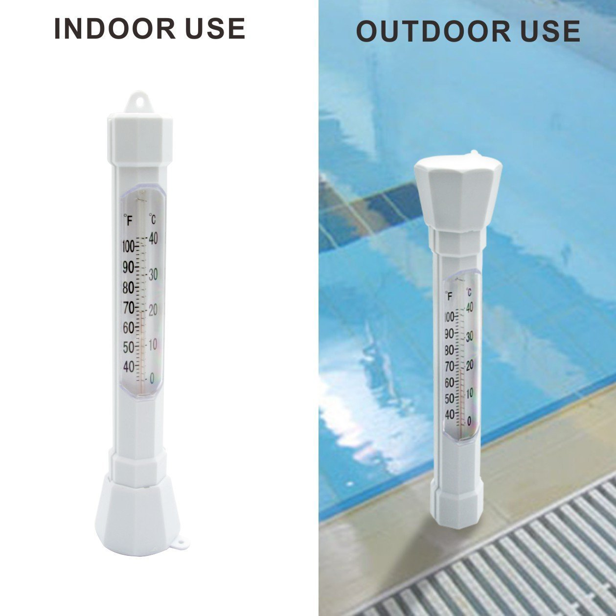 Premium Water Temperature Thermometers with Jumbo Read Display Perfect for Outdoor /& Indoor Swimming Pools Fish Ponds Spas Bath Hot Tubs Warmoor Large Floating Pool Thermometer