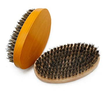 Amazon com : 100% Soft Boar Bristle Pocket Beard Brush, Professional