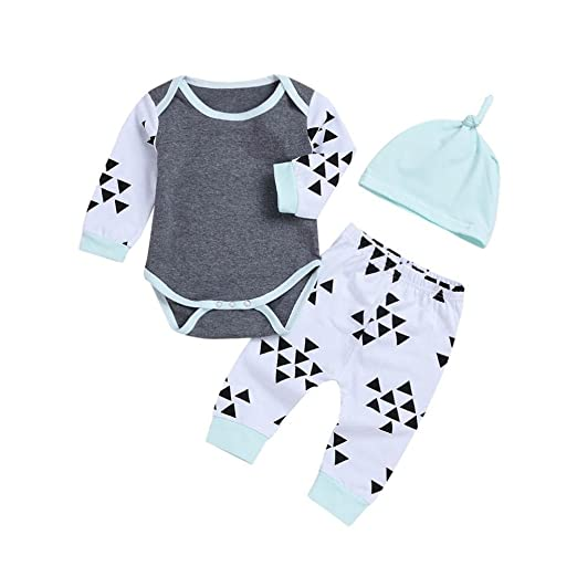 bbf09a5dd Amazon.com  Toddler Baby Girls Boys Clothes 3 Pcs Sets for 6-24 ...