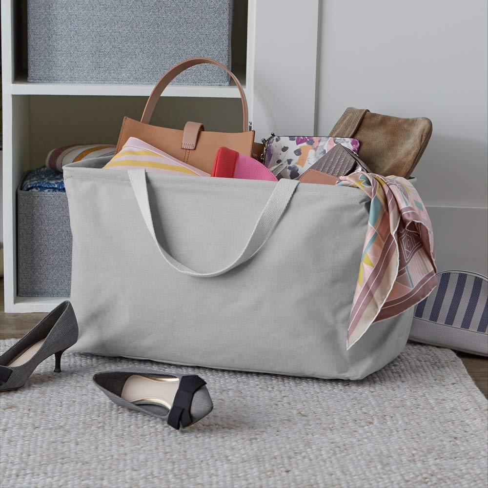 Large Rectangle Basics Fabric Storage Bin Charcoal Grey