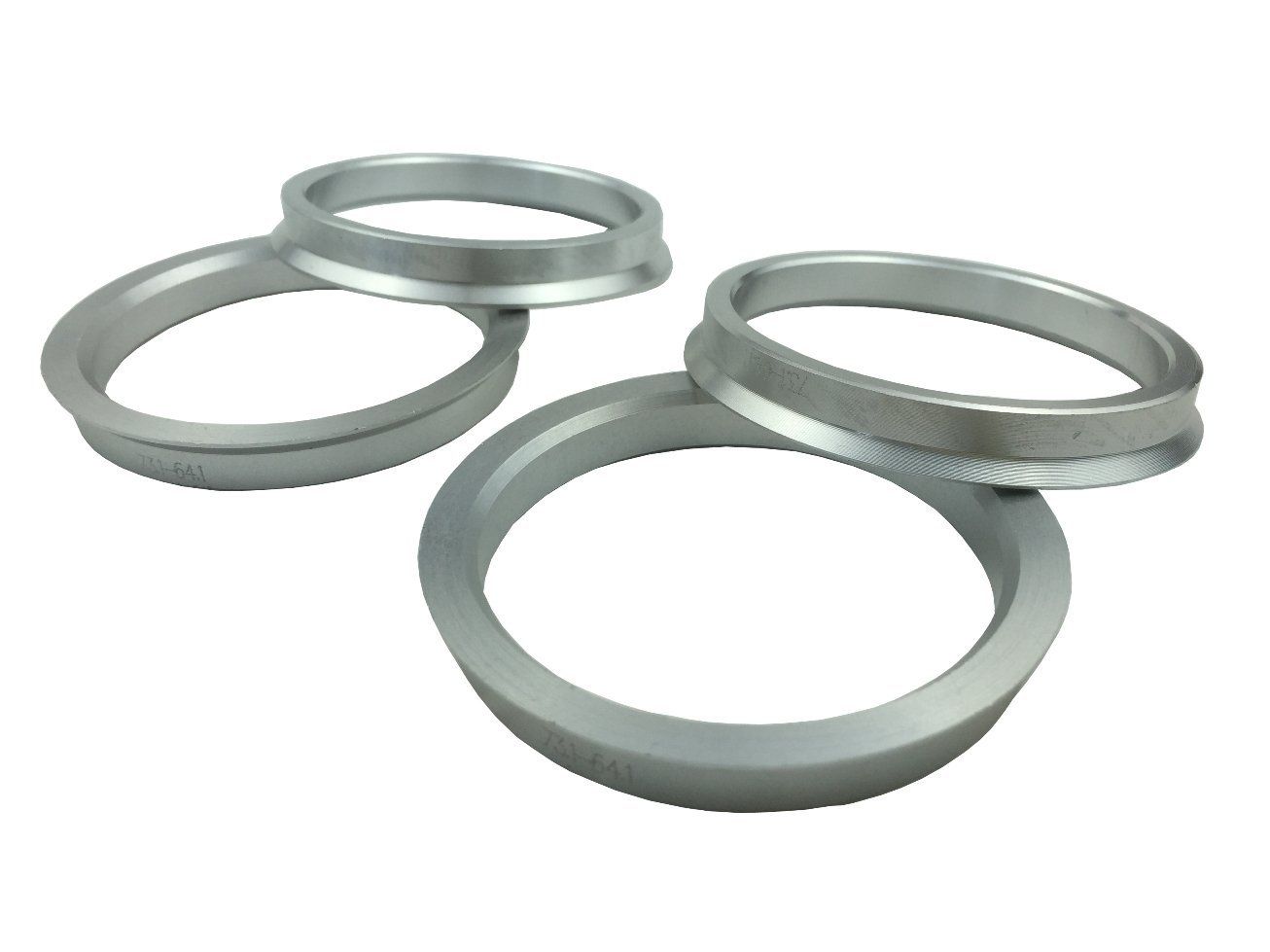 4 Pieces - Hub Centric Rings - 73.1mm OD to 64.1mm ID - Aluminum Hubrings JianDa