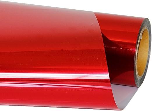 hoho HTV prensa de transferencia de calor papel de vinilo metálico para planchar hoja prenda película rojo 20