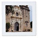 3dRose Danita Delimont - Churches - Church at Mission San Jose National Historic Park - 20x20 inch quilt square (qs_260120_8)