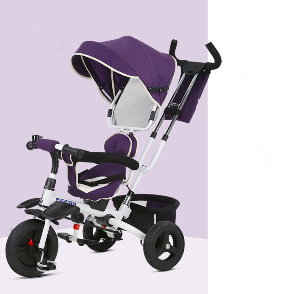 SI YU Baby Stroller High Landscape Foldable Pram Baby Carriage Very Easy Portable Folding Baby Umbrella Car,for 1-6 Years Old (Color : Purple)