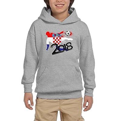 2018 Football Match Croatia Youth Pullover Hoodies Hip Hop Pockets Sweatsuit