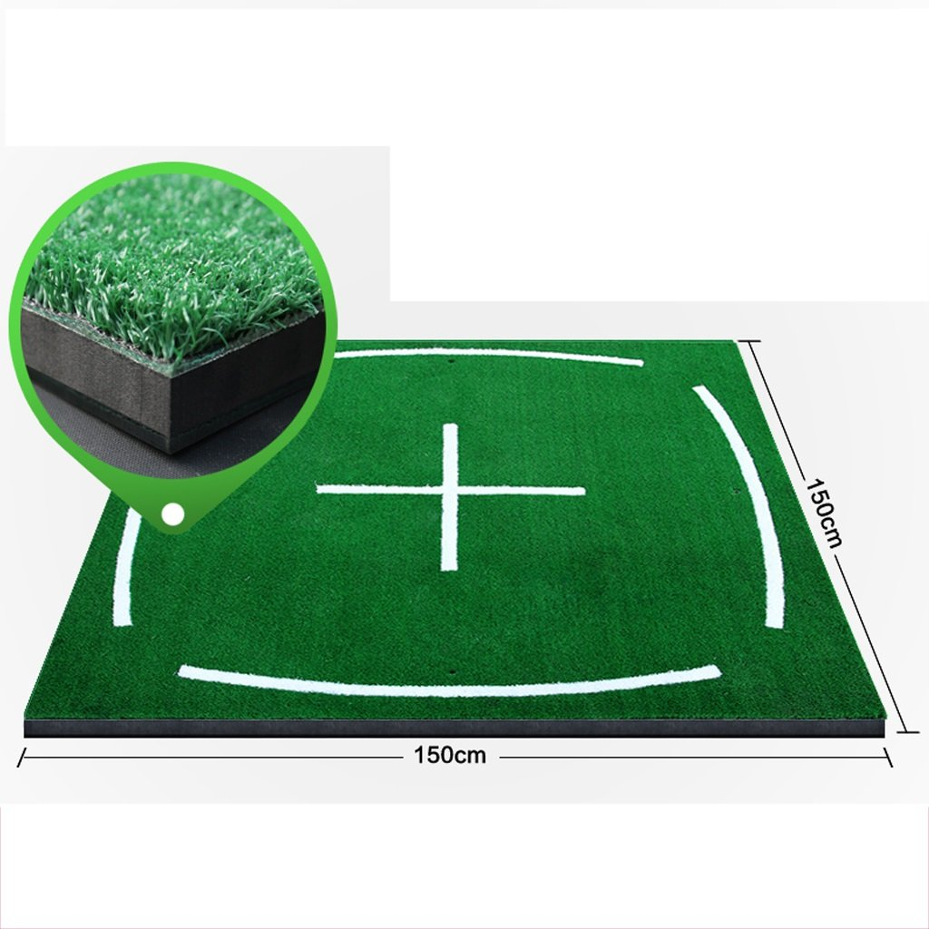 Golf putter pad Carpets Large Golf Grass Practice Mat 150 × 150cm Driving Chipping Pitching Putting