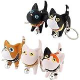 5 Pcs Cute Kate Cat Doll Key Rings