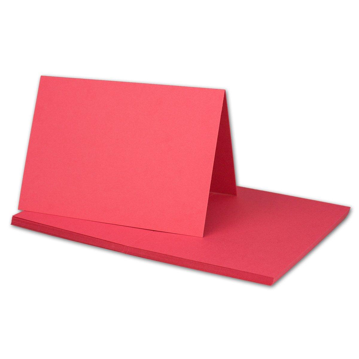 250x Falt-Karten DIN A6 Blanko Doppel-Karten in Hochweiß Kristallweiß -10,5 x 14,8 cm   Premium Qualität   FarbenFroh® B079X3CWPB | Angenehmes Aussehen