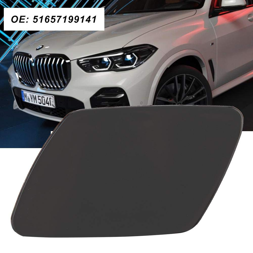 Headlight Washer Cover,Car Front Left Headlight Washer Jet Spray Nozzle Cap Cover for BMW X5 51657199141
