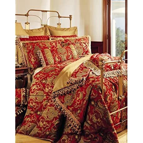 Sherry Kline China Art RED 6 Piece King Comforter Set