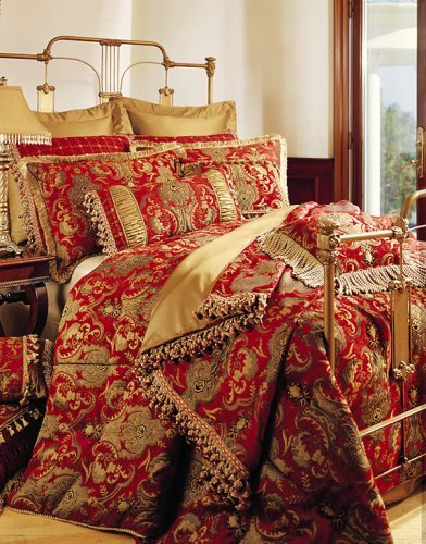 Sherry Kline China Art RED 6-piece Queen Comforter Set