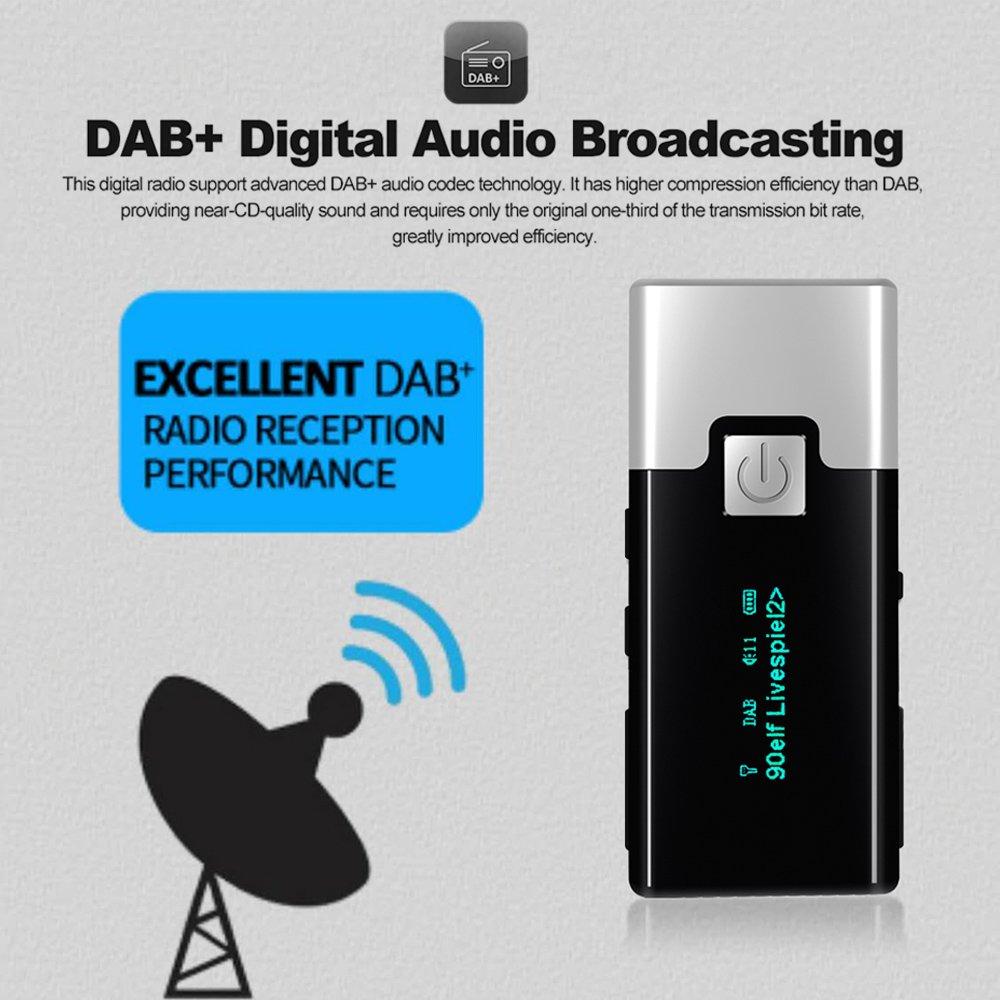 P10 Dab Fm Digital-radio Portable Tasche Dab Empfänger Mit Kopfhörer Mit Display Screen Akku