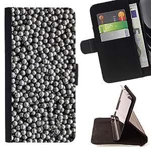 For Apple (4.7 inches!!!) iPhone 6 / 6S Case , Modelo de plata brillante Negro- la tarjeta de Crédito Slots PU Funda de cuero Monedero caso cubierta de piel