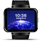 GuzelWorld DM98 Smart Watch Phone with Android 4.4 OS MTK6572 Dual Core 3G WIFI GPS 2.2 inch Screen With Wifi for Android (Black)