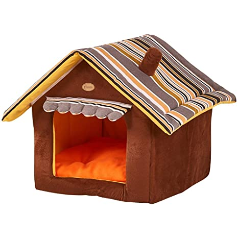 GBlife Casa para Mascotas Desmontable Cama para Perro Pequeño y Gatos Mascota Antideslizante Plegable Suave Calentar