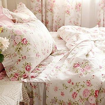 Fadfay Parure, rose romantique rose Housse de couette imprimé fée ...