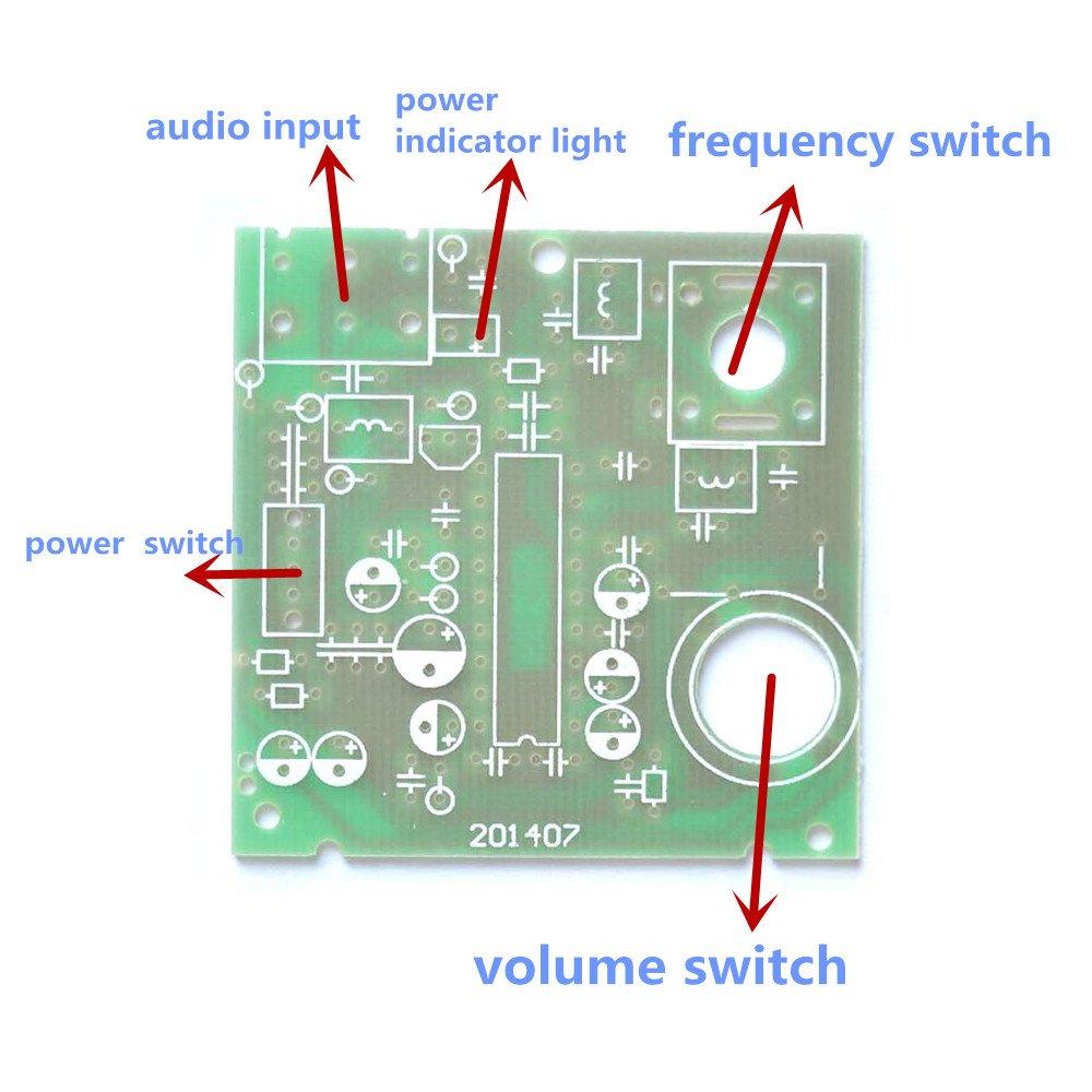 Puuli Medium Frequency If Mf Fm Am Radio Receiver 100m Simple Transmitter Cd1691cxa1691bm Electronic Learning Diy Kit Electronics Home Audio Theater