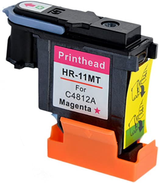hotcolor 4 unidades (BK C M Y) de repuesto para HP 11 Cabezal de impresión – nuevo chip de larga duración para inyección de tinta HP Pro K850 850DN Officejet 9110 9120 9130: Amazon.es: Oficina y papelería