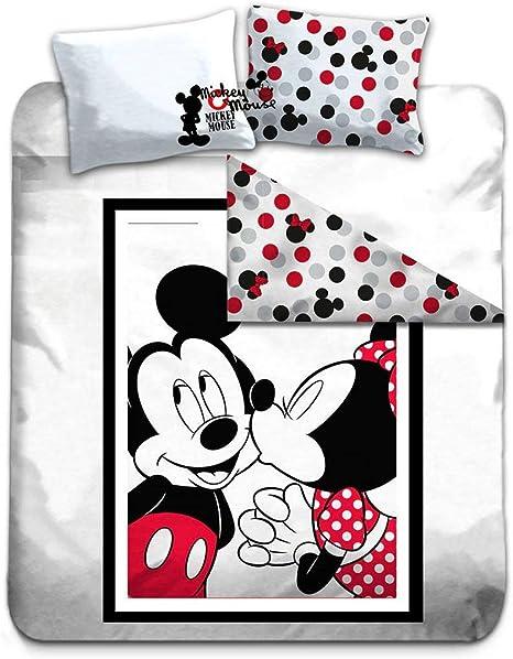 Copripiumino Topolino E Minnie Matrimoniale.Disney Mickey Minnie Copripiumino Matrimoniale 200x200 Cm 100