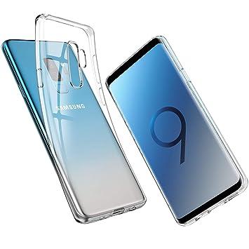 UNBREAKcable Funda para Samsung Galaxy S9 Plus S9+, Ultra Fina Suave TPU Gel Carcasa [Protección a Bordes y Cámara] [Compatible con Carga Inalámbrica] ...