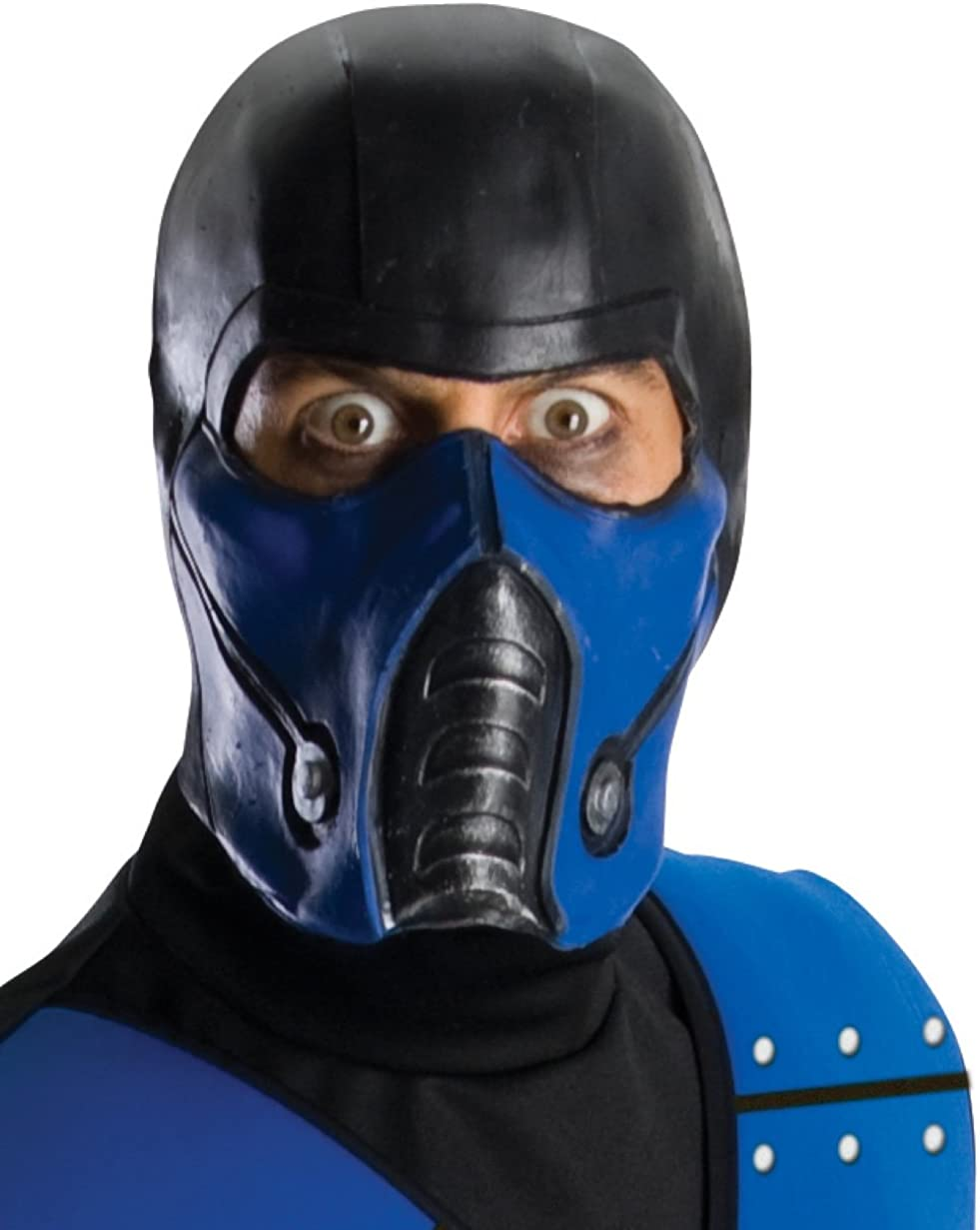 Amazon Com Mortal Kombat Deluxe Overhead Subzero Mask Black One Size Clothing
