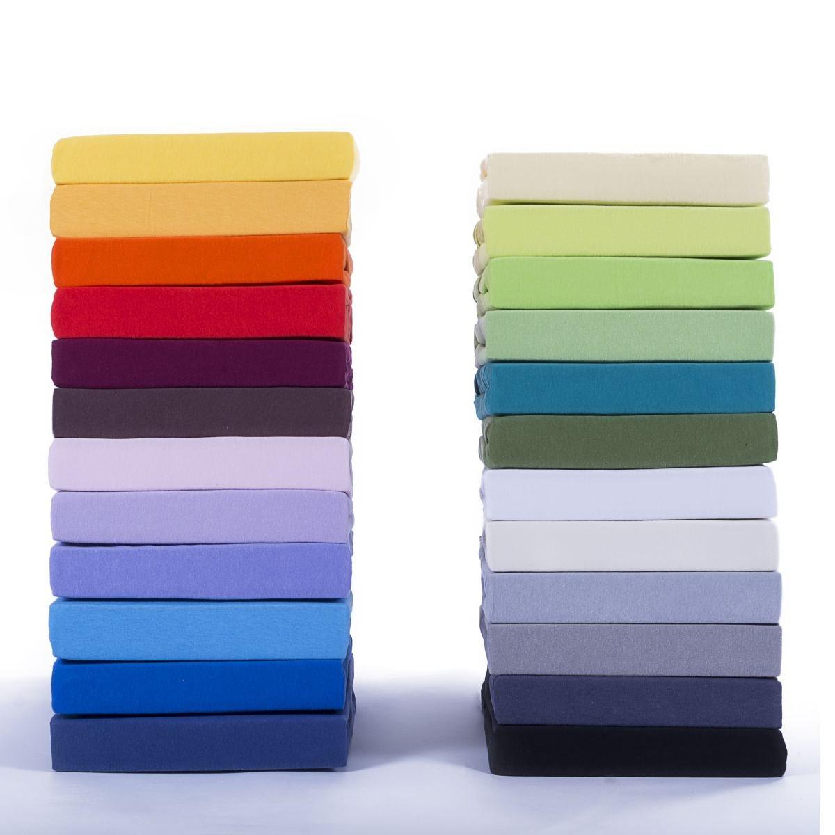Classic Jersey Topper Spannbettlaken   100% Baumwolle Spannbetttuch Nach  Ökotex 100, 180x200   200x200 Cm Schwarz, Komfort Qualität In 38 Farben U0026  10 ...