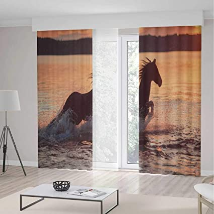 YOLIYANA Decor CollectionEquestrian For Bedroom Living Dining Room Kids Youth RoomHorse Sea