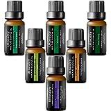 URbeauty Essential Oils, 6 Bottles AromatherapyEssential Oil Diffuser Essential Oils 100% Pure Lavender, Peppermint, Sweet Orange, Eucalyptus, Tea Tree, Lemongrass Essential Oil Gift Set(0.33oz each)