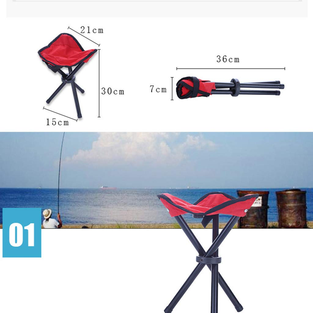 Sdoveb Portable Folding Tripod Stool for Camping BBQ Fishing Picnics Outdoor Chairs
