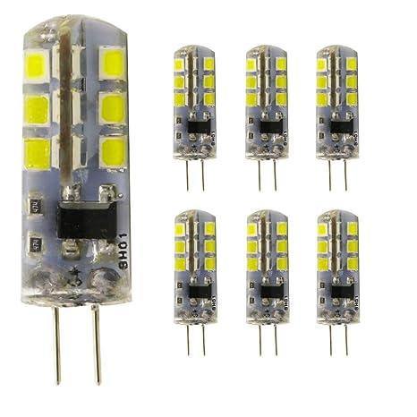 6 bombilla LED G4 3 W luz blanca fría 220 V AC 24 x 2835 SMD