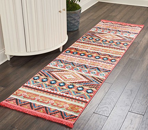 Nourison TRL04 Tribal Décor Traditional Colorful Area Rug, 2'2