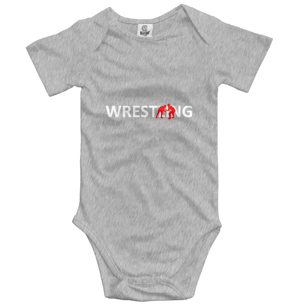 MOCSTONE Unisex Baby Bodysuit Wrestling Player Lover Infant Short Sleeve Onesies