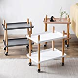 Multi-Function Cart Mobile Workbench Small Coffee