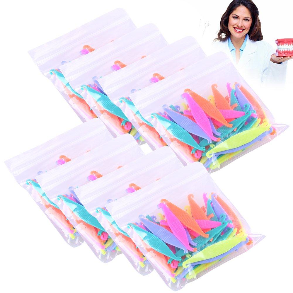 RZJZGZ Dental Elastic Rubber Bands Placers for Braces Disposable Plastic Orthodontic Elastic Placers Multi-color (15PCS) : Beauty