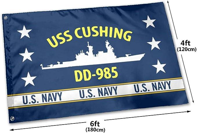 USS CUSHING DD 985 Street Sign us navy ship veteran sailor gift