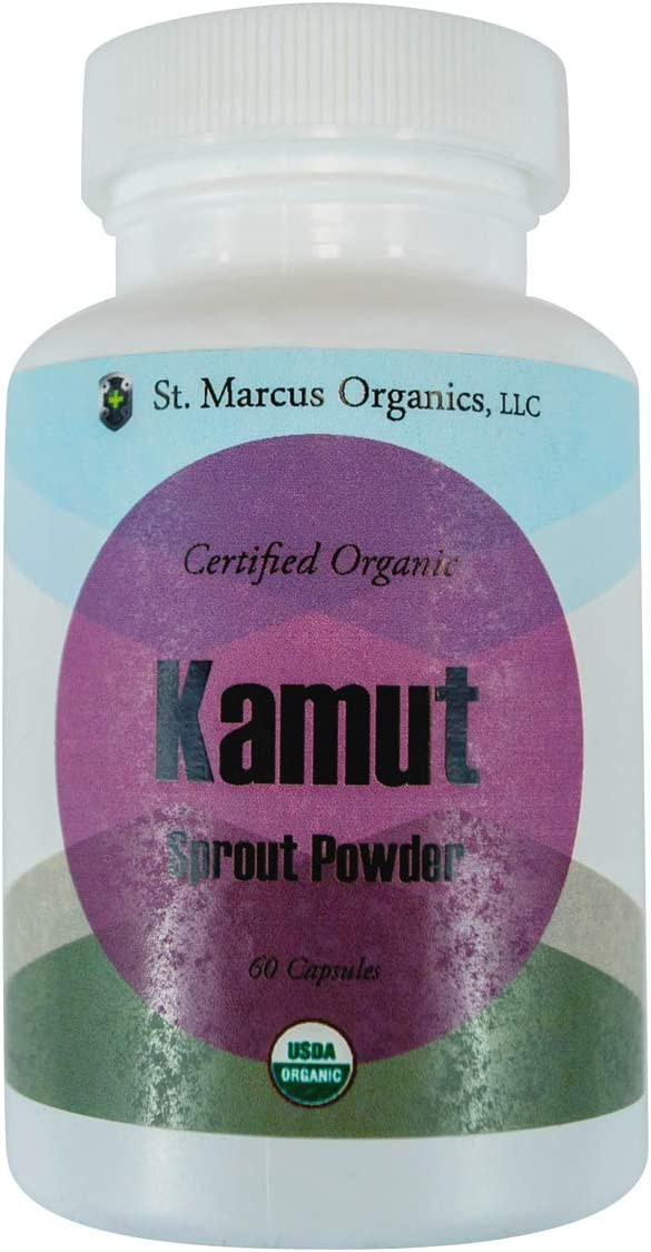 Certified Organic Kamut Sprout Powder (60 Capsules)