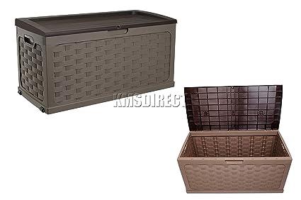 Baúl de plástico cojín de almacenamiento Starplast jardín al aire libre ratán estilo plástico cobertizo caja