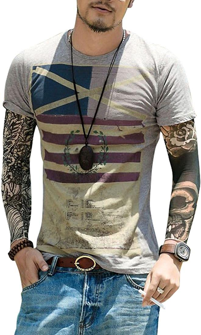 Jeansian Hombres Casual Short Sleeves Slim Fit Camiseta Tops tee AMA002: Amazon.es: Ropa y accesorios