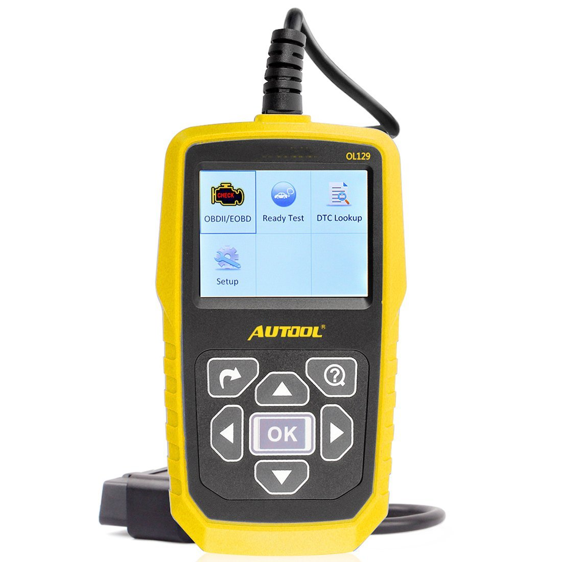 G-turbosnail OL129 AUTOOL Automotive Fault Code Reader Erase Battery Power Monitor OBDII/EOBD and CAN Diagnostic Tool 2.8'' TFT LCD