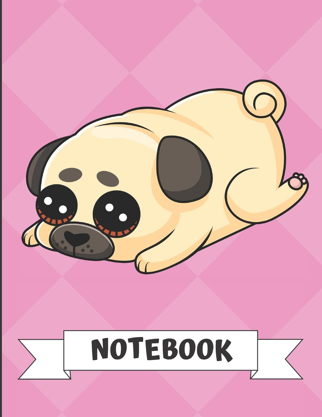 Notebook Cute Sad Little Puppy Dog Cartoon On A Pink Diamond Background Book Is Filled With Lined Journal Paper For Notes And Creating Writing Publishing Jessica H Mavenport 9781701618336 Amazon Com Books