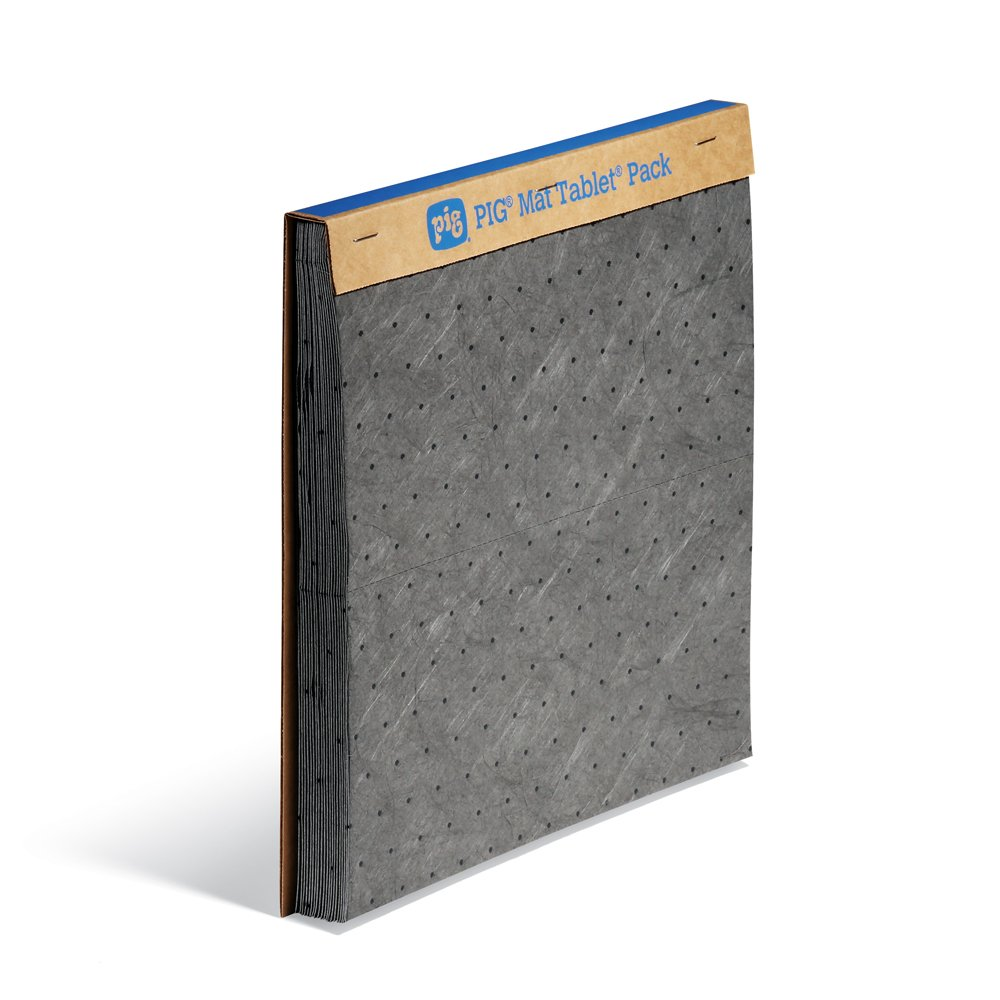 New Pig PM50023 Pegboard Garage Workshop Absorbent Mat – Perfect for Garage & Above Workbench – 20 Absorbent Pads