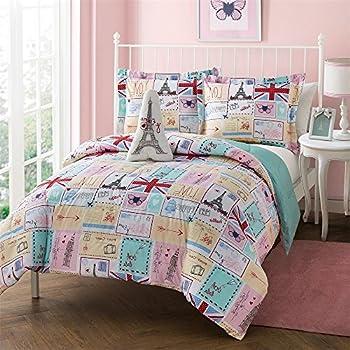 hot seller paris reversible comforter set full queen home kitchen. Black Bedroom Furniture Sets. Home Design Ideas