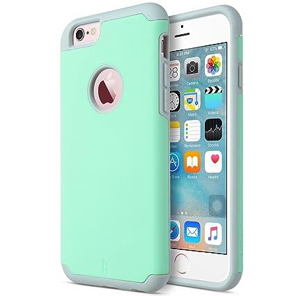 ULAK iPhone 6 /6S Carcasa, iPhone 6/6S 4.7 Pulgadas Case Funda Doble Capa hñbrida Delgado Prueba de Golpes Funda de Silicona para el iPhone 6/6S de ...