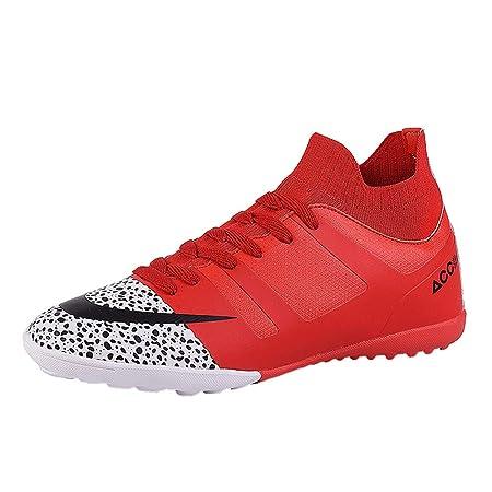 scarpe da calcio alte per bambini Rosso