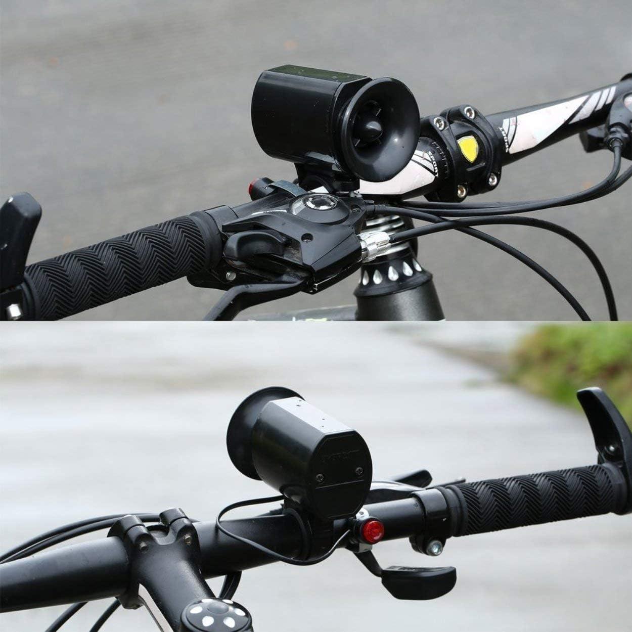 6 Sonidos Ultra Ruidoso Ciclismo eléctrico Cuerno de la Bicicleta ...