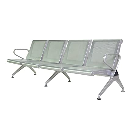 Walcut New 4 Seat Waiting Chair Airport Clinic Bench Office Reception Room  Salon Long Chair