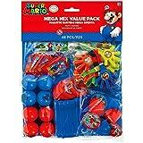 Amscan Super Mario Brothers Birthday Party Mega Mix Value Bundle Favor Set (48 Piece), One Size, Multicolor