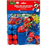 Amscan Super Mario Brothers Birthday Party Mega Mix Value Bundle Favours, Plastic, Pack of 48 Party Supplies