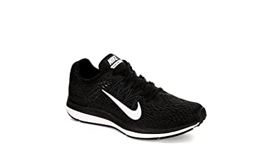 17c2e0a283ea58 NIKE Mens Zoom Winflo 5 Running Sneakers Black White-Anthracite AA7406-001 (