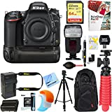 Nikon D750 FX-Format 24.3MP DSLR Camera (Body Only) + Deluxe Power Battery Grip Accessory Bundle